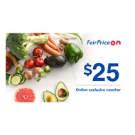 [FAIRPRICE ON] $25 Voucher NTUC FairPrice Online E-Voucher/SGD25 Off/Promo Code/Gift Voucher