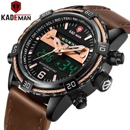 KADEMAN K6173GS 2020 Luxury Men Watch LCD Display Digital Watch TOP Brand 3ATM Stainless Steel