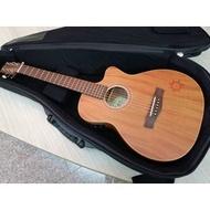★彈心琴園樂器館★台灣高階品牌 AYERS TO-03CE小太陽 全單板電木旅行吉他  #免運費0利率