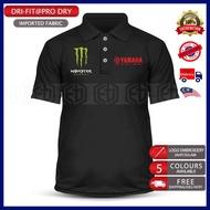 Dry Fit Yamaha Monster Polo T Shirt Microfiber MotoGP Motorcycle Motosikal Superbike Racing Team 125Z LC135 RXZ TZM SRL