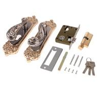 Dolity วาวล์เหล็กชุดล็อกประตูห้องนอน KNOB Lockset กับปุ่ม