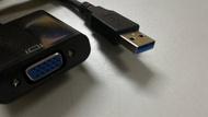 @淡水無國界@ USB3.0轉VGA USB顯示卡 外接式顯示卡 USB轉VGA D-SUB 外接螢幕 USB轉螢幕