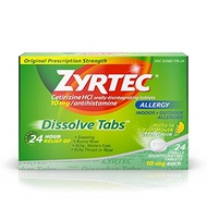 ▶$1 Shop Coupon◀  Zyrtec Allergy Relief Dissolve Tablets With Cetirizine, Citrus Flavored, 24 Count