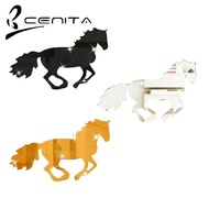 Mirror Stickers 3D Acrylic Running Horse Wall DIY Living Room Office Decoration