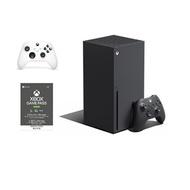 (組合)Xbox Series X主機+無線控制器 冰雪白+Game Pass Ultimate 3個月 實體卡X1 RRT-00020