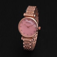 (Ready Stock) Hot Sale Original Emporio Armani_Fancy Chonograph Automatic Quartz Watch Birthday Gift For Women stainless steel Strap Watch Men Couple Classic Watches Armani_AR-5905