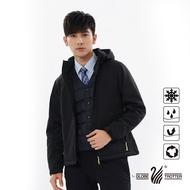【遊遍天下】男款GlobeTex防水透濕防風刷毛軟殼保暖外套XL黑色