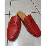 Gucci紅色穆勒鞋(37)