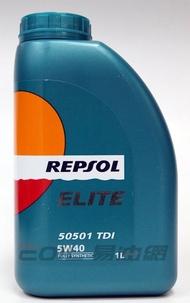 Repsol ELITE 50501 TDI 5W40 全合成機油