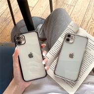 Apple 12ตรงขอบจับ Electroplated โปร่งใสสำหรับ Apple 11กรณี iPhone EXR คนรัก Xsmax Apple 8Plusr นุ่ม Se2 iPhone 11Promax ชาย7Plus Apple X หญิง
