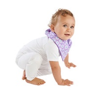 【Mum 2 Mum】雙面時尚造型口水巾圍兜-雛菊/紫