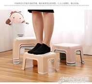 凳子  加厚塑膠凳家用小凳子方凳創意時尚浴室板凳客廳椅子成人矮凳 時尚芭莎