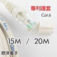 Twinnet Cat.6 超高速網路線 附測試報告(含頭) 台灣製造 15M/20M 15米/20米