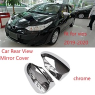 ( 2pcs) Chrome Rearview Side Mirror Cover Trim For Toyota Vios Yaris Sedan 2019-2020 Rear View Side Mirror Cover