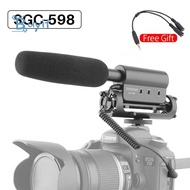 Practical Stereo Camera Vlog Microphone Video Photography Recording Vlog Mic for DSLR Camera