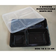 №㍿  Bento Box Microwavable Food Container--4 Division 5 pcs