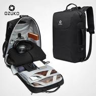 OZUKOผู้ชายป้องกันการโจรกรรมTSAล็อคกระเป๋าเป้สะพายหลัง 15.6 ถุงแล็ปท็อปชายUSBชาร์จกระเป๋าเดินทางกระเป๋าเป้สะพายหลัง