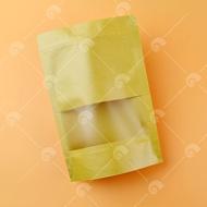 【艾佳】半斤-50入牛皮開窗夾鏈立袋/包
