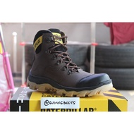 Caterpillar safety boots orchid darkbrown shoes