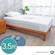 【BODEN】森林家具 柯特3.5尺單人加大全實木床底(不含床頭片及床墊)