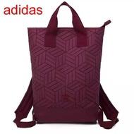Adidas Originals geometric 3D roll top backpack รุ่นใหม่ชนช้อป!!กระเป๋าเป้สะพายหลัง เปิดปิดด้วยซิปเดียวด้านบน แท้100%