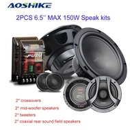 2PC Coaxial Speakers Kit with Tweeters 6.5 Inch Full Frequency Combination Audio Speak Subwoofer For Car Refit Kits