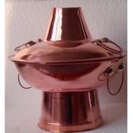 Hot Pot Instant-Boiled Mutton Hot Pot Pure Red Copper Hot Pot Charcoal Copper Pot 30cm Hot Pot Copper Two-flavor Hot Pot Copper Pot