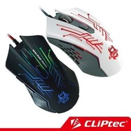【CLiPtec】2400DPI USB THEROPO 迅猛龍電競滑鼠 Gaming Mouse 黑色滑鼠