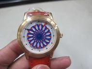 二手舖~NO.578【ARSA】炫彩美學機械腕錶(紅 28mm) ARSA 降價出清