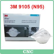 (1pcs) 3M 9105 (N95) V FLEX FOLDABLE PARTICULATE RESPIRATOR (Genuine 3M)