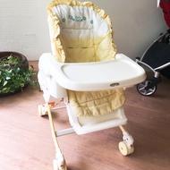 康貝Combi 手動安撫/嬰兒餐搖椅/餐椅搖搖床 Rashule 12328 -二手良品