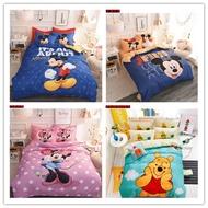 【下殺】米奇米妮 維尼熊 全棉四件套 鬆緊床包 4件組 床單 被套 單人 枕套組 鋪棉 床包 雙人床 雙人加大
