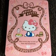 經典人氣王 Hello Kitty 凱蒂貓 巧心捲禮盒的空鐵盒+提袋