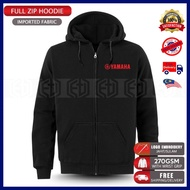 Zip Hoodie Yamaha Casual Embroidery MotoGP Motorcycle Motosikal Superbike Racing Team Bike Streetwear TZM 125Z LC RXZ