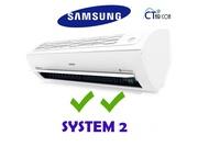 Samsung Inverter System 2 Aircon (AJ09FBADEC / 2 + AJ18FCJ3EC) **2 Ticks**