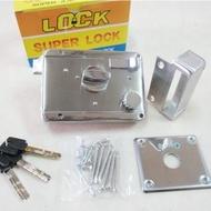 LI003 BIRD 三段鎖 白鐵 不鏽鋼材質 單開 銅製鎖心 不銹鋼三段鎖(以色列 鋁 硫化銅門 白鐵門 門鎖)