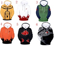 Men's Naruto 3D Print Japanese Anime Hoodie Sweater Jacket Couples Set