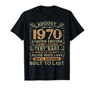 Vintage 50 Years Old August 1970 50th Birthday Gift Ideas T-Shirt Birthday Gift