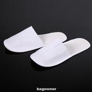Men Women Disposable Slipper Hotel Bathroom Fluffy Non Slip Closed Toe 10 Pairs