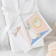 小清新留言卡片袋硫酸紙信封 精致燙金生日祝福小賀卡