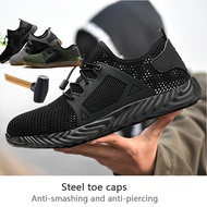 READY STOCK Plus size 48 steel toe cap Military work safety boot shoes