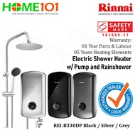 Rinnai Electric Instant Water Heater With Crystal Series REI-B330DP-R *NO INSTALLATION*