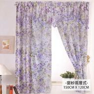 【莫菲思雲佳】風花語柔紗系列窗簾-紫萱花華(寬150X長120CM)