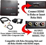 HDMI to 3rcaコンポジットAVコンバータfor Roku [ roku 2、roku 3、roku 4、roku Express、roku Ultra、roku Premiere、roku Premiere + and Roku Streamingスティック(すべてのモデル) ]
