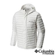 Columbia 哥倫比亞 男款-鈦Outdry ECO 防水羽絨外套-白色