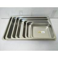 方盤 長方盤 304不鏽鋼餐盤 深盤高5cm 露營盤 蝴蝶牌 台灣製 一入(163元)
