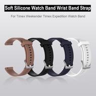 สายนาฬิกาข้อมือซิลิโคนนุ่มสำหรับ timex Weekender timex Expedition Watch Band