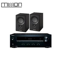 【英國 MISSION】VX-1 書架型喇叭+ONKYO TX-8220兩聲道收音擴大機