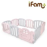 【Ifam】簡約風遊戲圍欄-粉紅灰(遊戲圍欄/城堡圍欄)