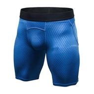 Breathable Elastic กระชับกางเกงขาสั้นผู้ชาย 3-D การพิมพ์การฝึกอบรมผ้ายืดออกกำลังกายกางเกงวิ่ง